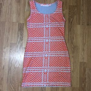 🆕EUC Chelsea&Violet Lined Orange Gray Dress